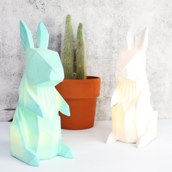 Lampe veilleuse origami lapin for Lampe a accrocher au lit